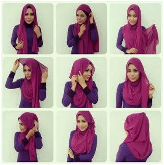 Koleksi Foto Tutorial Cara Pakai Hijab Modern Syar'i