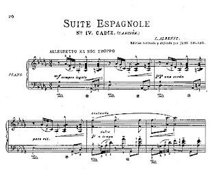 Suite Española de Isaac Albéniz