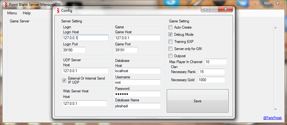 point blank tahadi server manager farisoftware