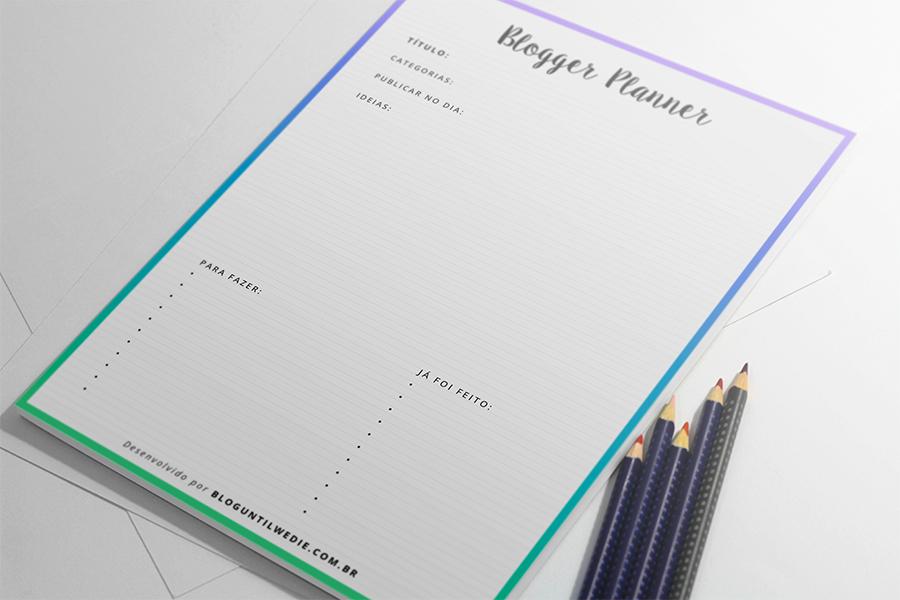 blogger planner para download