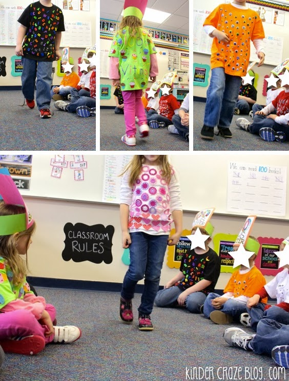 have students make tshirts for the 100th day of school, then hold a fashion show in the classroom