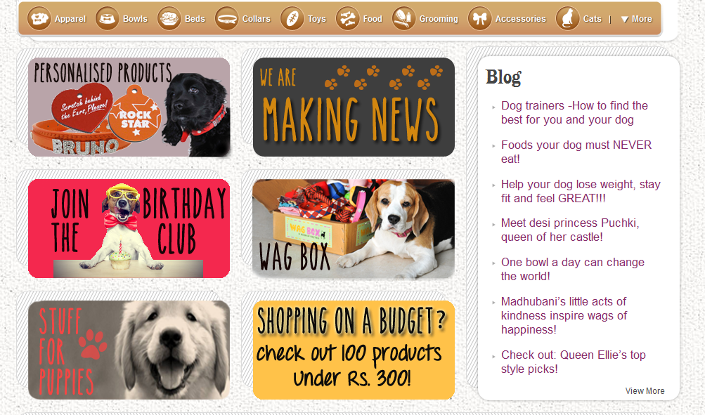 Online shopping  in India portal for dogs: Headsupfortails.com