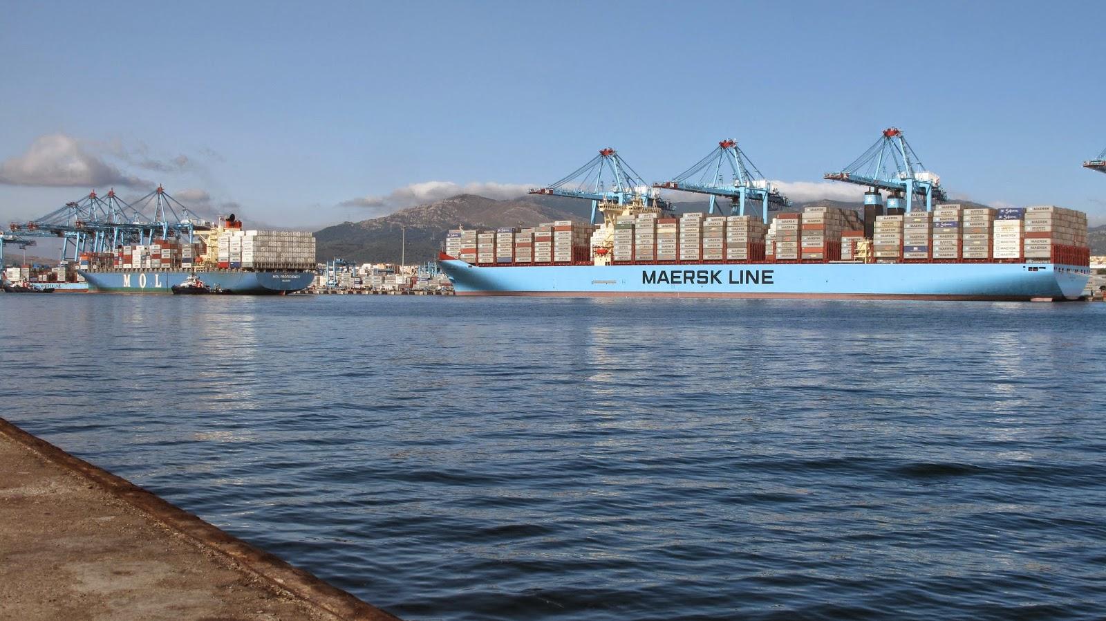 Marstal Maersk en APMT Algeciras