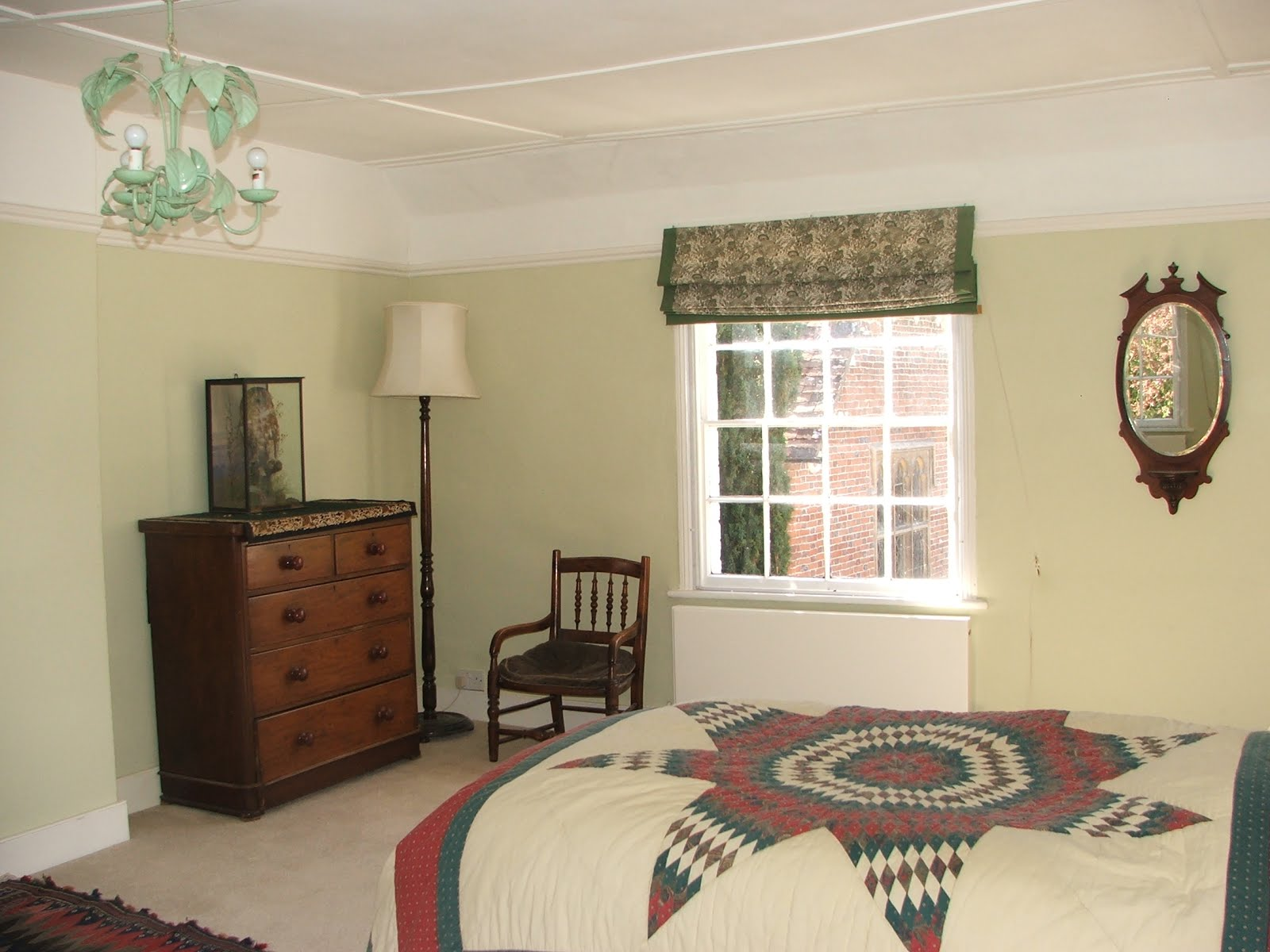 this is the bedroom looking west