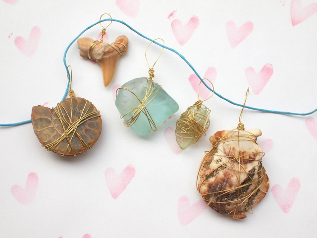 how to make wire wrapped pendants