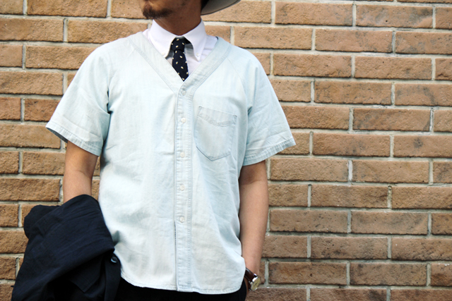 "GANT Rugger ""R.Indigo Baseball"" S/S Shirts size M 20,520yen"