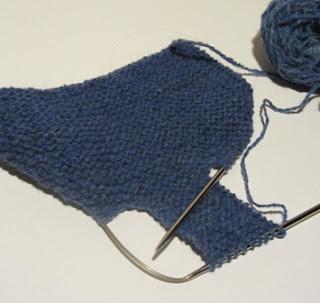 strikke babytøfler oppskrift