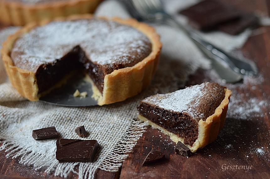 Valentin napi brownie tartelette