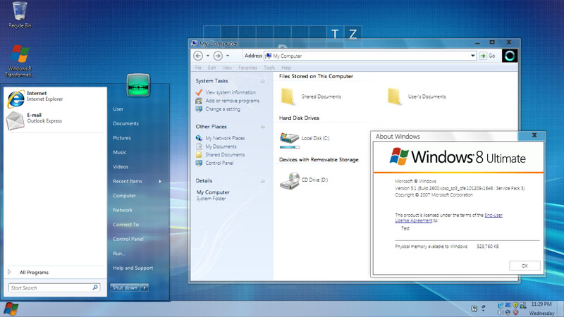 windows 8 transformation pack 7.0 for windows 7