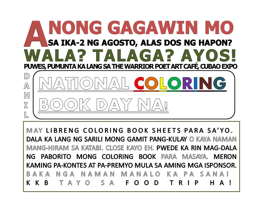 National Coloring Book Day Philippines 2015