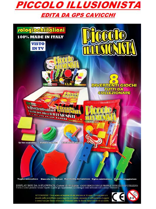 infoedicola nuova collezione 3d piccolo illusionista On edicola collezioni