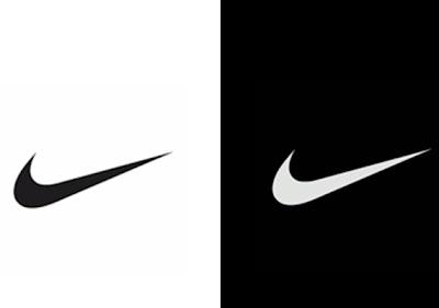 Logotipo nike preto e branco