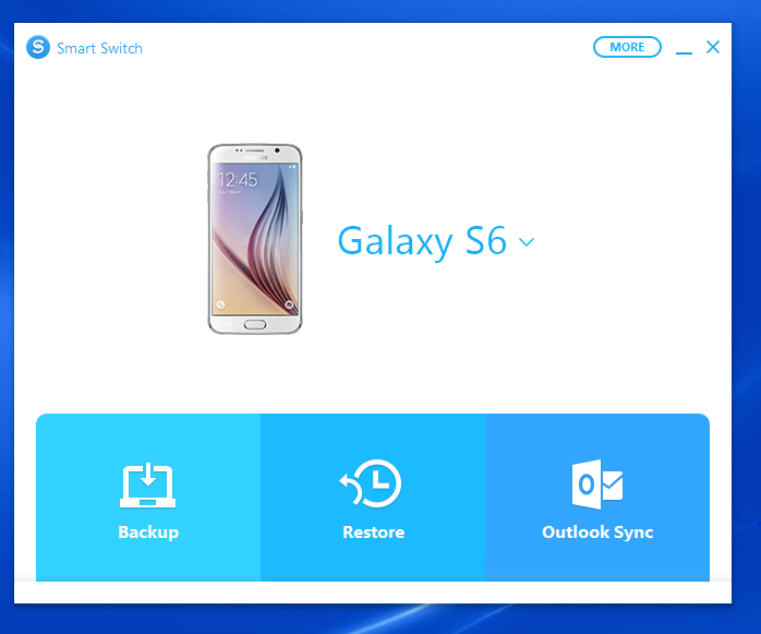 how to take samsung s6 backup to pc