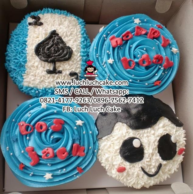 Cupcake Buttercream Biru Daerah Surabaya - Sidoarjo