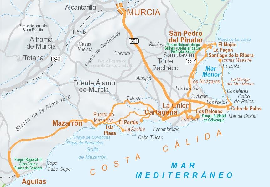 itinerario murcia: