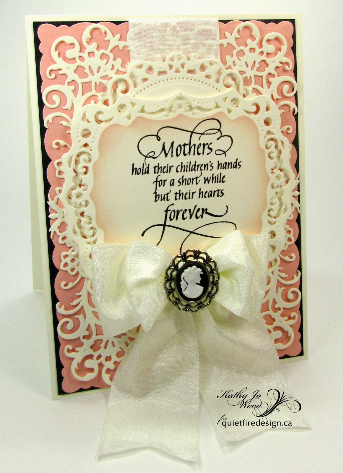 Quietfire Design, Mother's Day, card, mothers hold childrens hands, spellbinders, distress ink, labels 39, floral ovals, devine floral, romantic rose