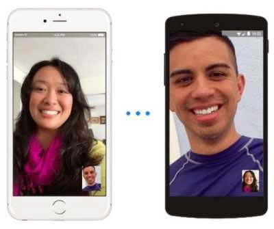 video-chiamate, video chat su iOS e Android con fb messenger