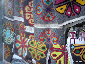 Hand woven Carpets by the Mana villagers