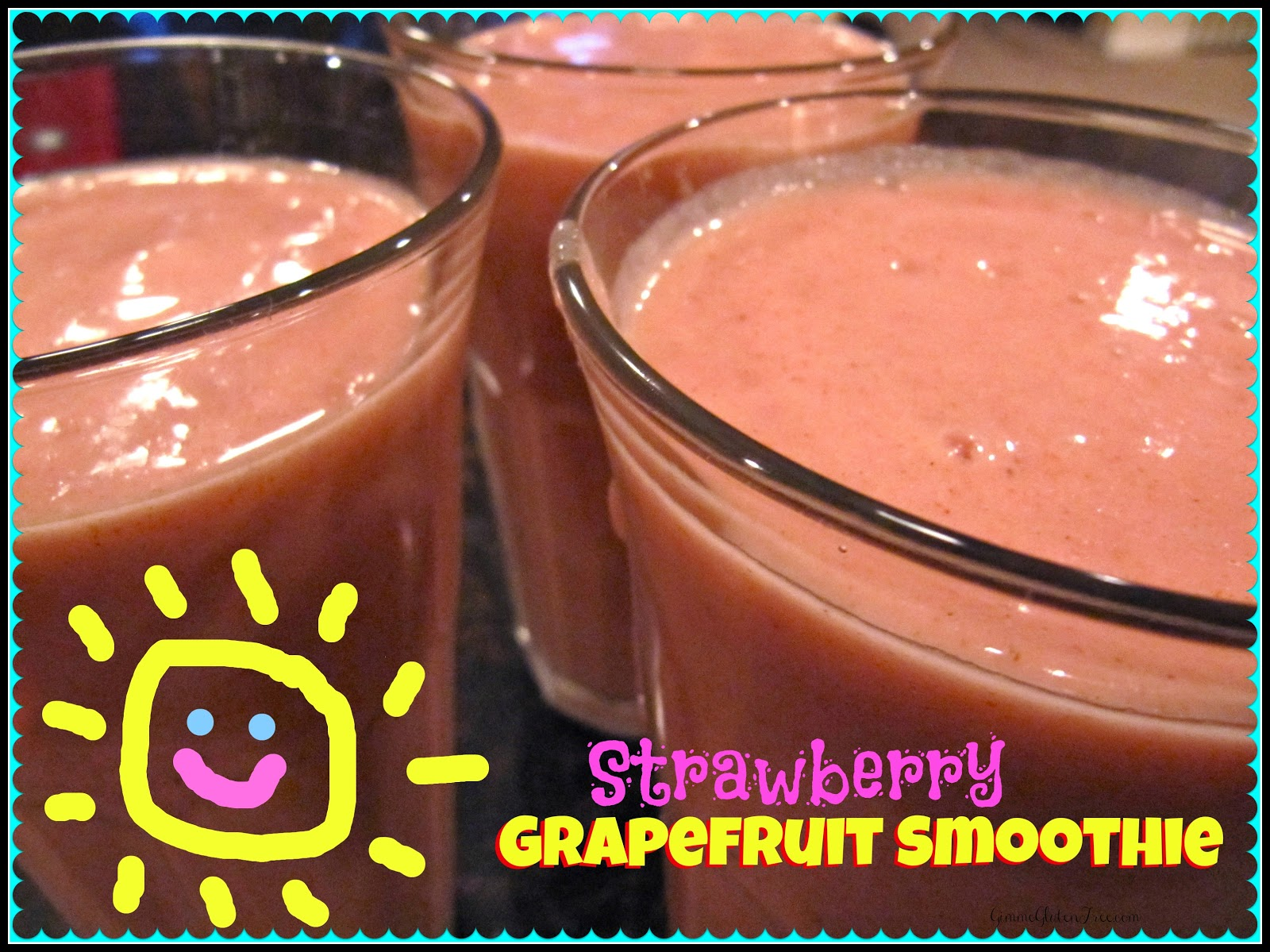 Strawberry Grapefruit Smoothie ~ The perfect way to wake-up!