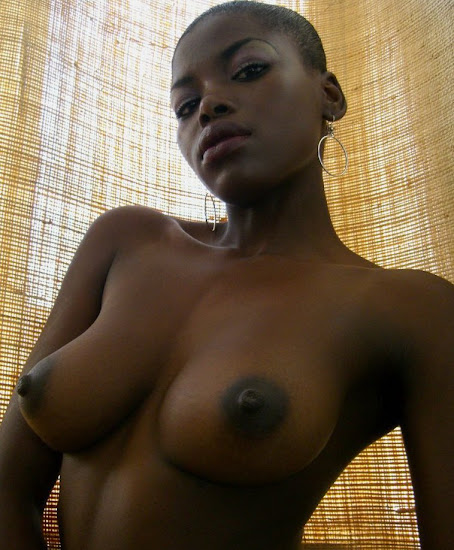 beautiful black woman with perky tits