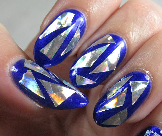 Broken Glass Nail Art with Sinful Colors Let's Talk