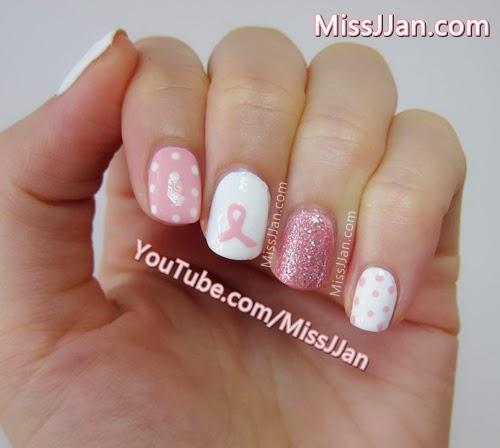 Awareness Ribbon Nail Art This Pink Ribbon Nail Art