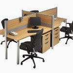 Kantor Partisi Workstation 3 Modera Workstation 1-Series