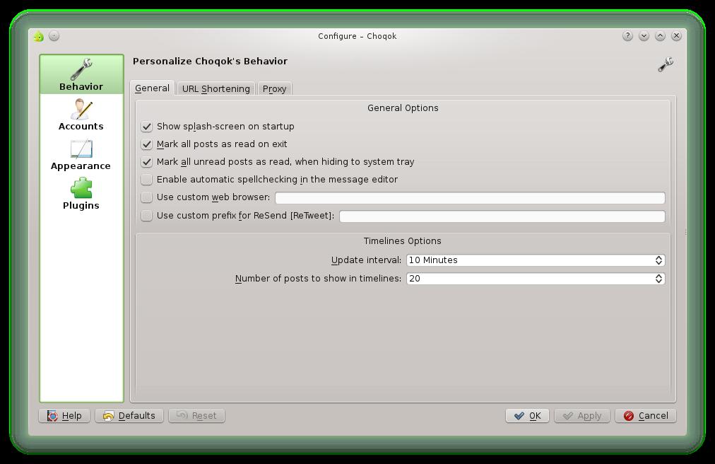 Choqok – A Linux based Twitter client for the KDE desktop ...