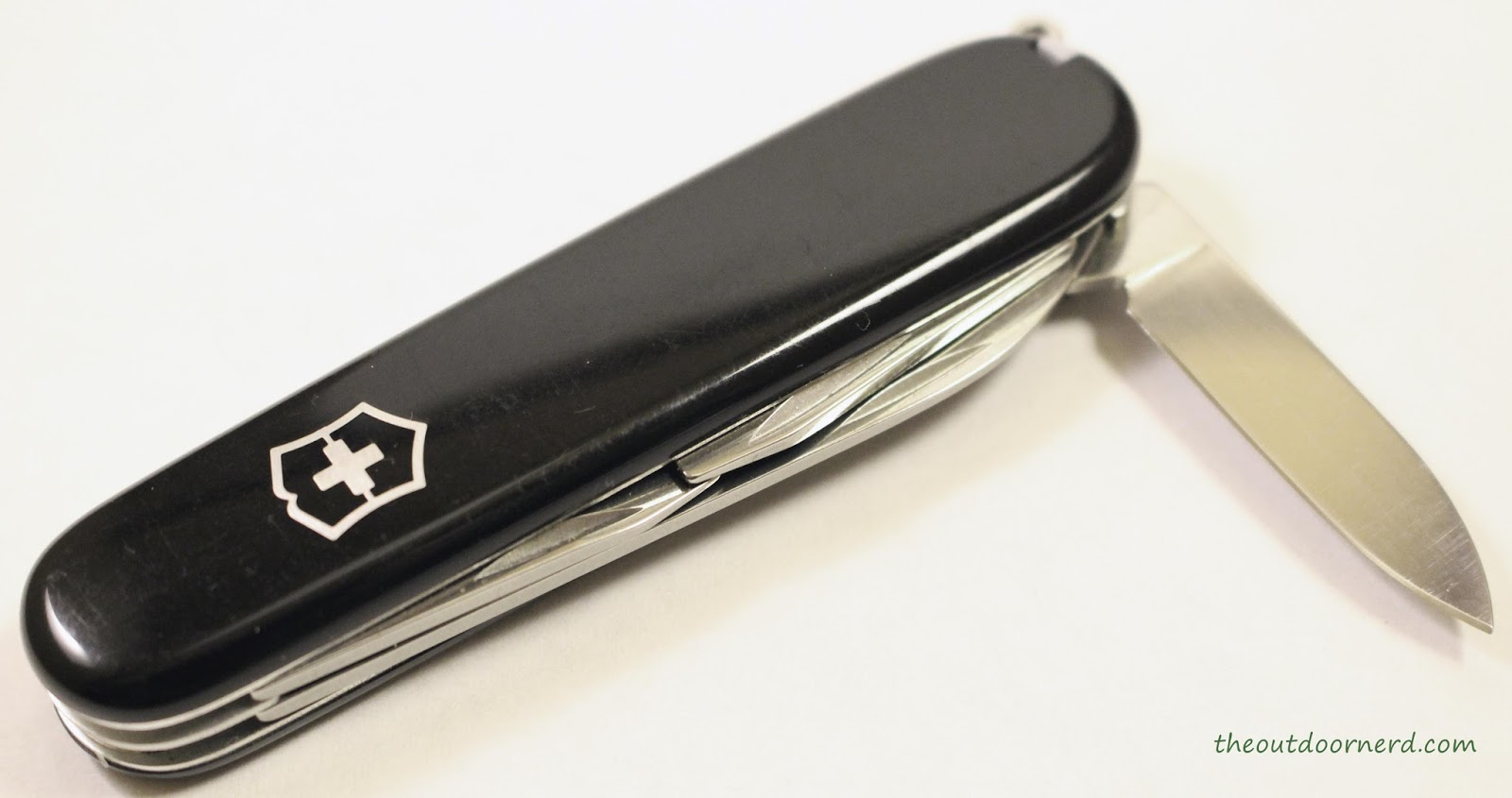 Victorinox Swiss Army Tinker Pocket Knife - Closeup Of Small Blade 1