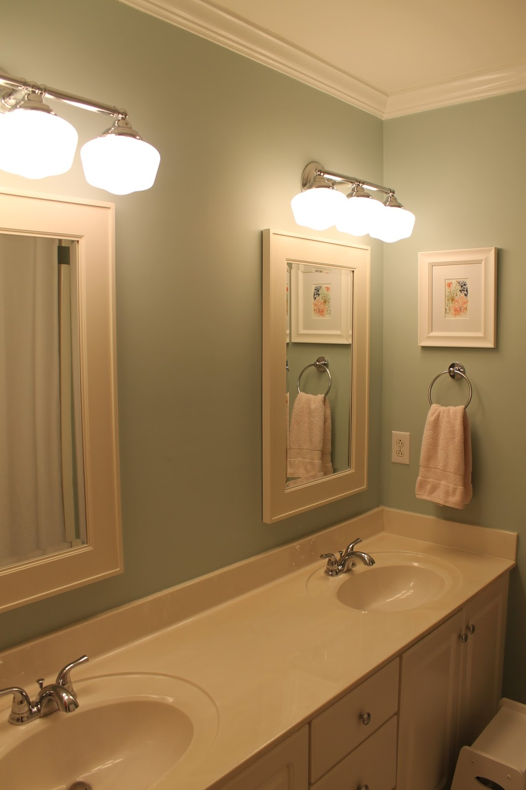 Jcpenney Bathroom Cabinets Front Porch Lemonades Mint And Coral Kids Bathroom