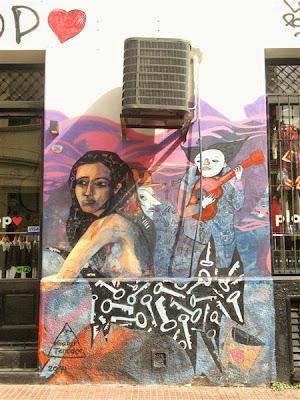 Graffiti en San Telmo (Buenos Aires)