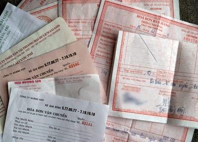 Hàng vận chuyển không có hóa đơn