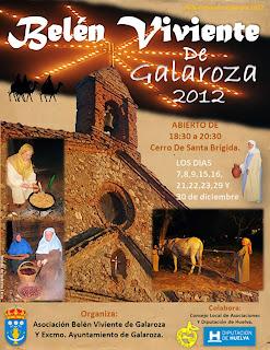 Cartel Belén Viviente en Galaroza (Huelva) 2012