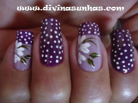 Unhas Decoradas De Flores
