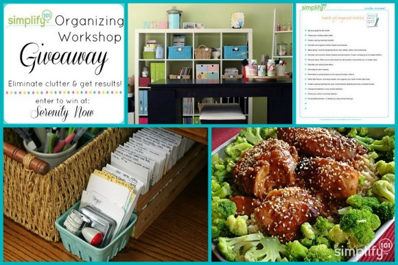 Get Organized with Simplify 101 {Workshop Giveaway at Serenity Now}