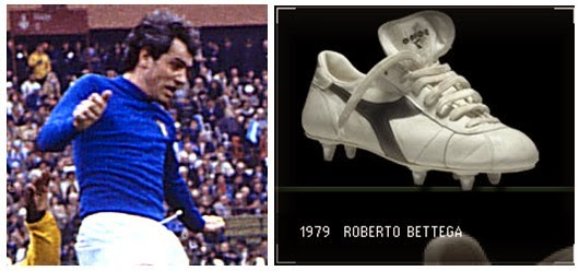 44053eaea62c In the 70s they started to produce football boots with the help of Roberto  Bettega (Juventus and Italy ) .