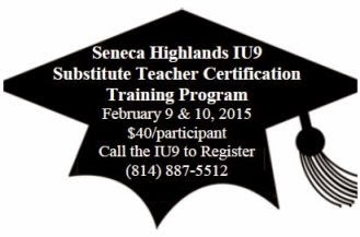 2-9/10 Substitute Teacher Training