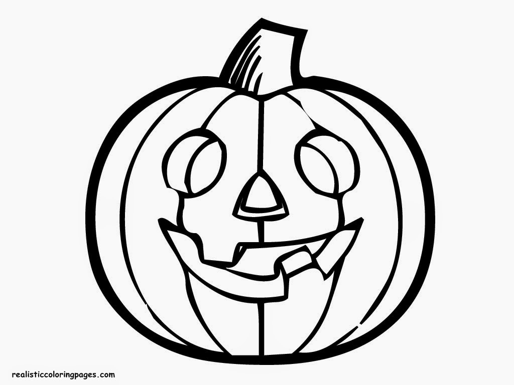 pumpkin color realistic coloring pages