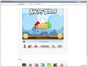 Google plus games - Angry Birds