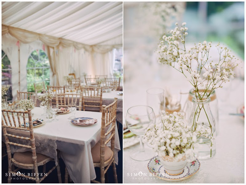 Beautiful rustic marquee setting