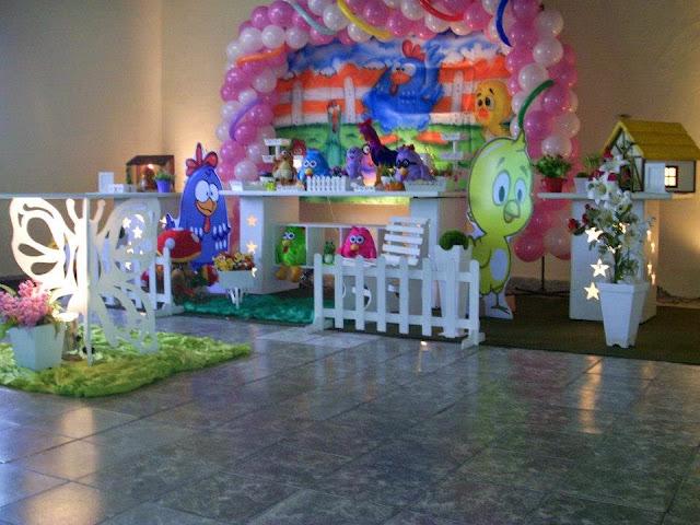 decoração provençal infantil - tema da Galinha Pintadinha