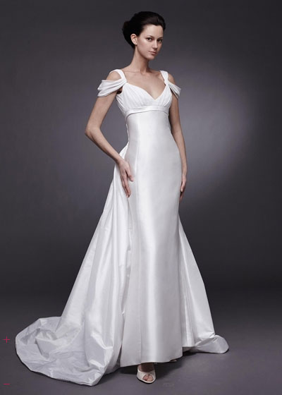 Muhlisah Bridal Gowns With Cap Sleeves