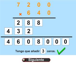 Multiplicaciones con ceros intermedios