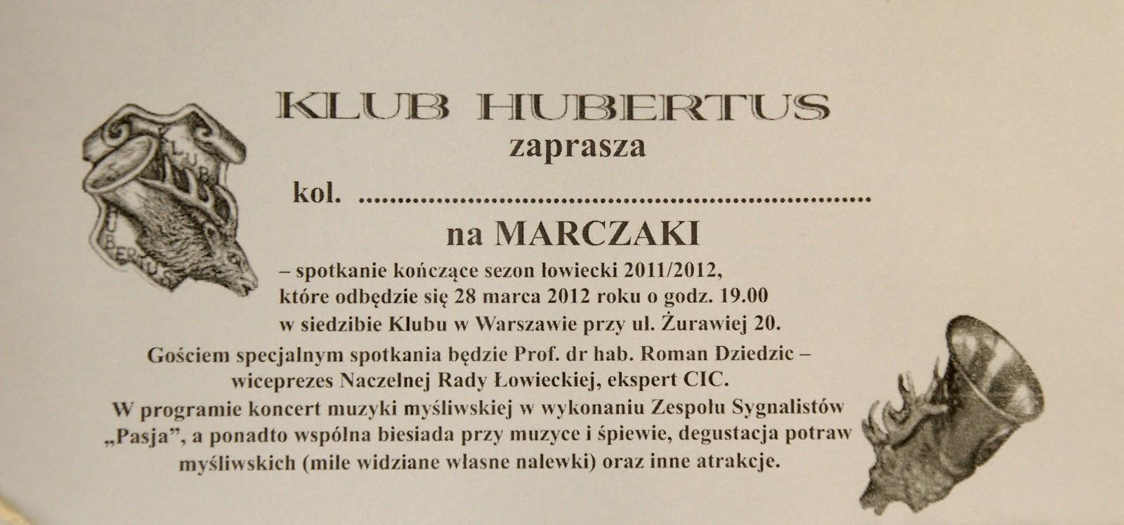 Klub Myśliwski Hubertus W Warszawie 28 Iii 2012 Fotorelacja Z