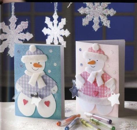 Новогодние открытки своими руками из фетра