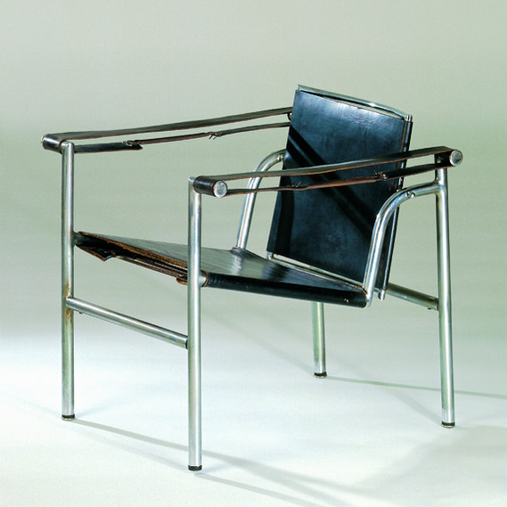 Design: 1928, Manufacturer: Le Corbusier, Pierre,Jeanneret, Charlotte Perriand, Paris, Material: chrome-plated tubular steel, leather, steel springs