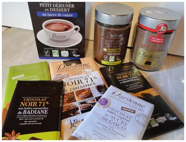 Chocolat Dardenne, chocolat bio garanti sans gluten