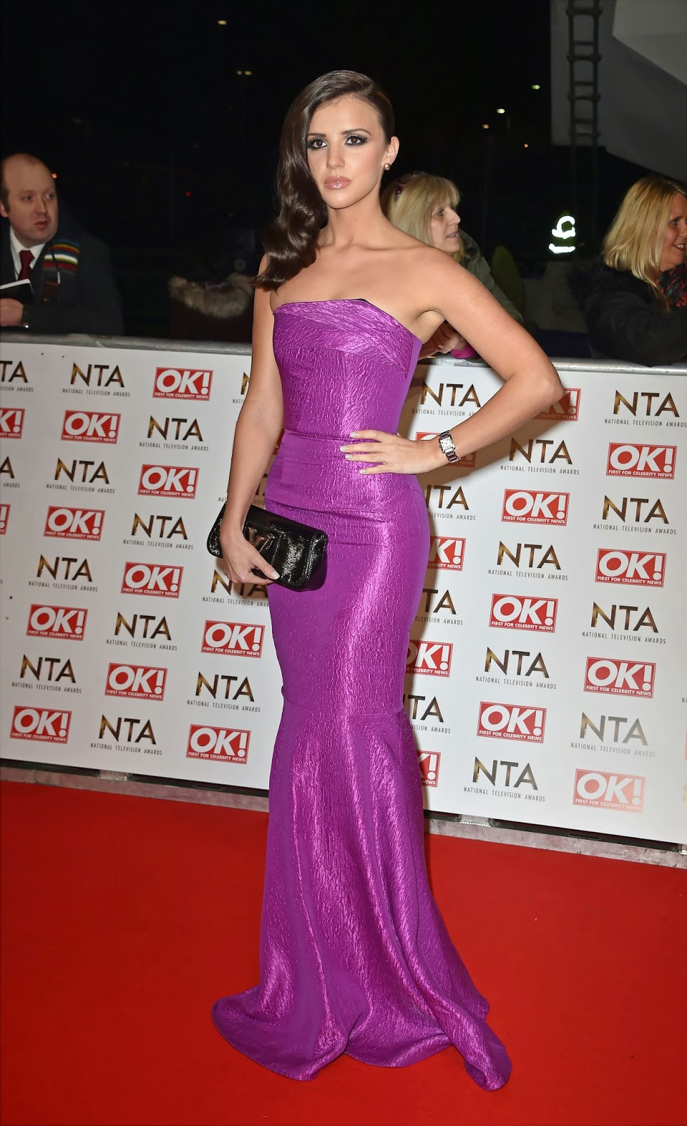Model: Lucy Mecklenburgh - National Television Awards in London