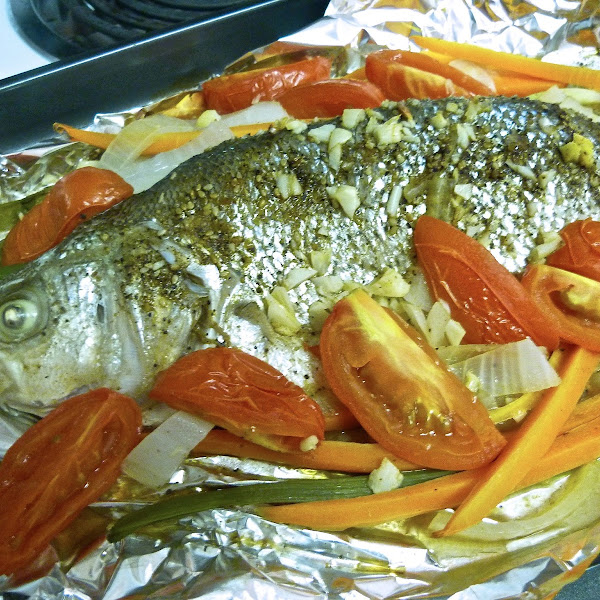 Mom's Baked Bass