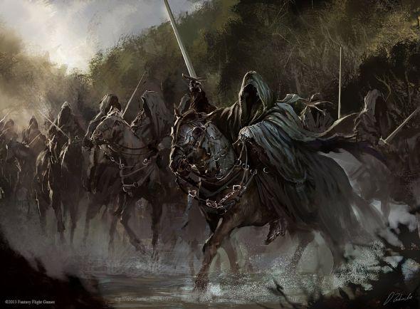 Darek Zabrocki daroz deviantart ilustrações arte conceitual fantasia games Cavaleiros negros